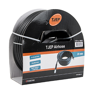 TJEP air hose, 8/14 mm poly with nipple and coupling