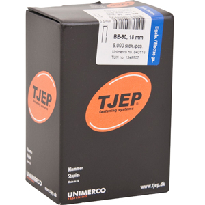TJEP BE-90 staples 18 mm, w/glue