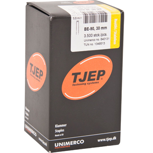 TJEP BE-90 staples 30 mm, with glue