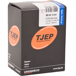 TJEP BE-80 staples 8 mm